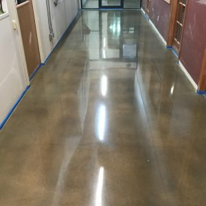 floor, concrete, VCT flooring