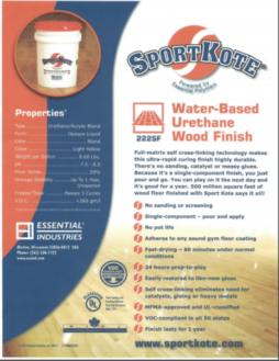Sport Kote Water Based Urethane